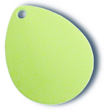 -4 - Colorado Blade #2 Fluorescent Chartreuse - 10 Pack