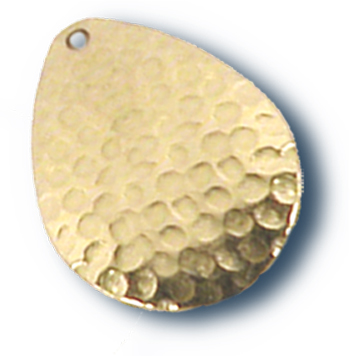 -2 - Colorado Premium Blade #3 Hammered Brass w/ Lacquer - 10 Pack
