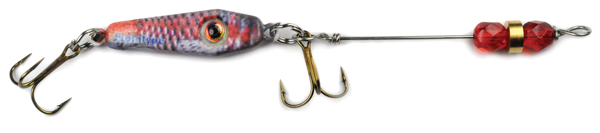 55573 - R & B Minnow w/Red Beads - 1/4 oz Prototype Fergie Spoon