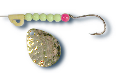 -104 - Hammered Brass w/Chartreuse Beads