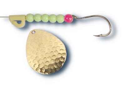 54765 - Hammered Gold w/ Chartreuse Beads