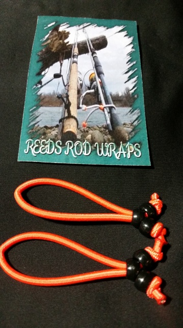 642014-25244 - Small Neon Orange Reeds Rod Wraps